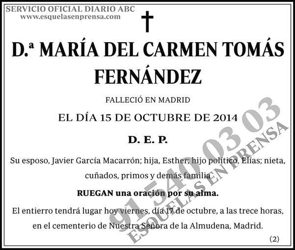 María del Carmen Tomás Fernández